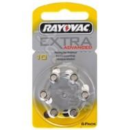 Baterije za slušni aparat RAYOVAC EXTRA 10 6/1