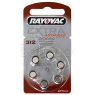 Baterije za slušni aparat RAYOVAC Extra 312 6/1