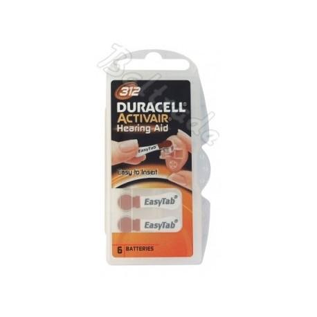 Baterije za slušni aparat DURACELL 312 6/1