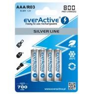 Baterije EVERACTIVE AAA/HR03 4/1 800 silver line