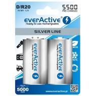 Baterije EVERACTIVE D/HR20 2/1 5500 silver line