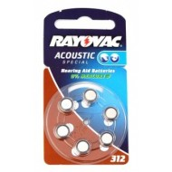 Baterije za slušni aparat RAYOVAC Special 312 6/1